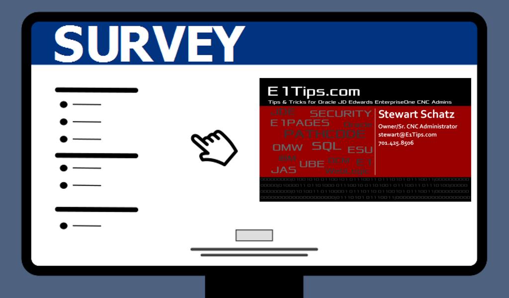 E1Tips.com Survey